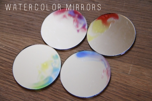 watercolor mirrors